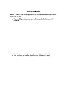 Gilgamesh's Lament Analysis