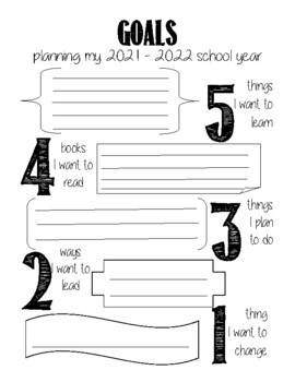 Gimme 5 - Goal Setting for the Year