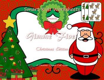 Gimme Five!  Christmas Edition - A Math Card Game FREEBIE
