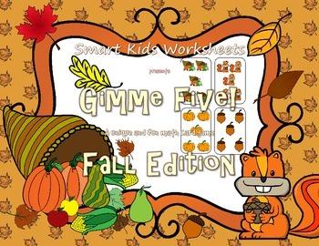 Gimme Five! Fall Edition - A Math Card Game