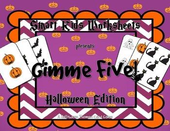 Gimme Five! Halloween Edition - FREEBIE Card Game