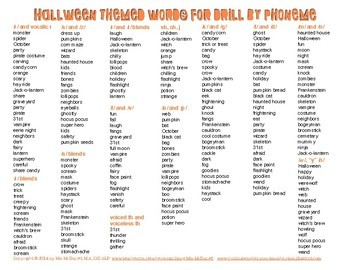 Quick Drill Halloween Treats {for speech therapy or any skill drill}