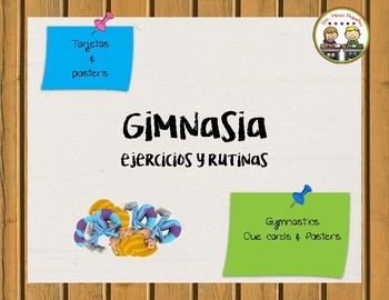 Gimnasia ~ Gymnastics Posters & Cards in Spanish