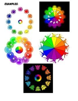 Color Wheel of Wilber Gimp clipart  Gimp Color Wheel