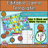 Gingerbread Man Editable Board Game Template
