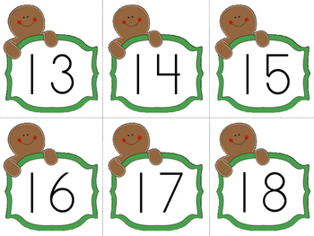 Gingerbread man holiday numbers!