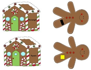 Ginger Bread Man Geometry and Time Matching Game