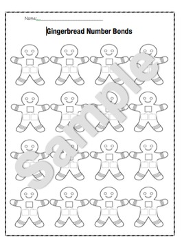 Ginger Bread Number Bond