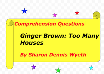 Ginger Brown: Too Many Houses by Sharon Wyeth