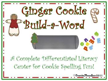Ginger Cookie Build - a - Word Spelling & Vocabulary Game
