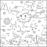 Ginger Man Connect the Dots and Coloring Page, Non-CU