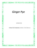 Ginger Pye Novel Unit Plus Grammar