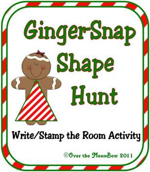 Ginger-Snap Shapes Write / Stamp the Room Spelling Vocabulary Game