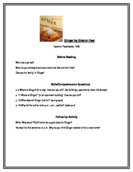 Ginger for Guided Reading Groups (1st grade)