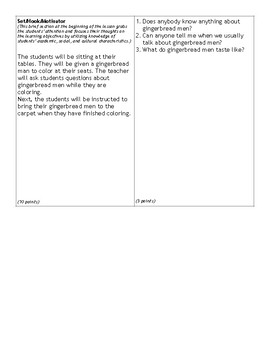 GingerBread Man Formal Lesson Plan