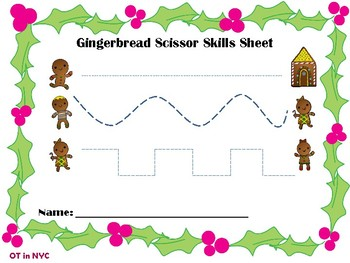 GingerBread Scissor Skills FREEBIE