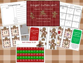 GingerCuties ELA & Math themed unit (aligned with CC standards)
