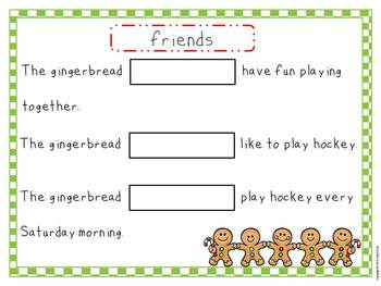 "Ginger""Words"" Christmas Vocabulary Activities"