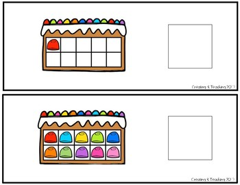 Gingerbread 10 Frame Counting Interactive Book
