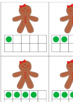 Gingerbread 10 Frame Match