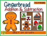 Gingerbread 2 Addend Addition & Subtraction With Ten Frames