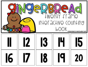 Gingerbread 20 Frame Counting Interactive Book