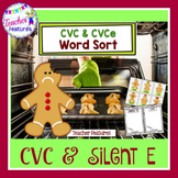 Gingerbread Man Activities | CVC & SILENT E WORD SORT