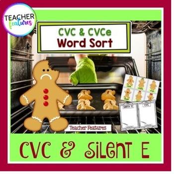 Gingerbread Man  Literacy: CVC & Silent E Word Sort