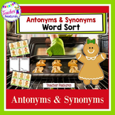 Gingerbread Man Activities | SYNONYMS AND ANTONYMS | Word Sorts Activities