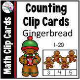 Gingerbread Man Activities - Counting Clip Cards 1-20