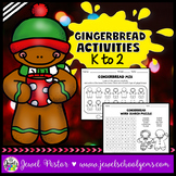 Christmas Worksheets (Gingerbread Man Activities Kindergarten, 1st & 2nd Grade)