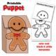 Gingerbread Man Craft Activity: Printable Paper Bag Puppet Templates