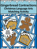 Gingerbread Activities: Gingerbread Contractions Christmas ELA Activity - Color