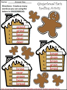 Gingerbread Activities: Gingerbread Facts Christmas Reading Activity Packet