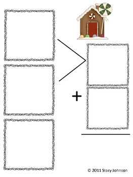 Gingerbread 3 digit Addition {Free}