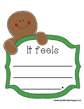 Gingerbread 5 Senses Writing and Craftivity
