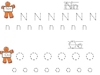 Gingerbread ABC Handwriting Practice Book