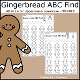 Gingerbread ABC Letter Find
