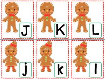 Gingerbread ABC Match Up Game