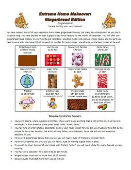 Gingerbread Across the Curriculum - Writing, Math, Bulletin Board