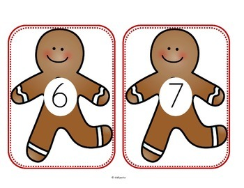 Gingerbread Math and Literacy Centers Preschool