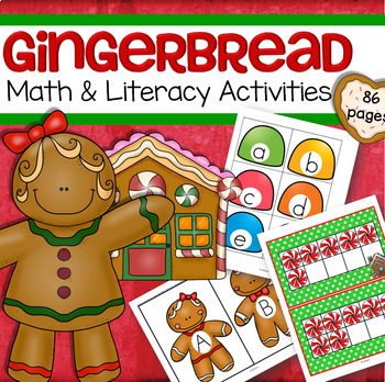 Gingerbread Math and Literacy Centers Preschool