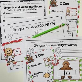 Gingerbread Activities BUNDLE