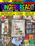 Gingerbread Man Activities, Centers and Crafts {Freebie}