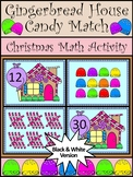 Gingerbread Activities: Gingerbread House Christmas Math Activity - BW Version