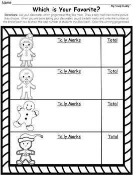 Gingerbread Activities: Gingerbread Man Craft, Math & Literacy (Kindergarten)