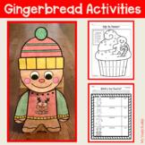 Gingerbread Activities: Gingerbread Man Craft, Math & Lite