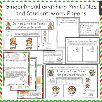 Gingerbread Activities, Graphing Printables and Student Pages