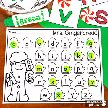 Gingerbread Activities: Letter Sounds Practice
