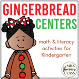 Gingerbread Man Math and Literacy Centers
